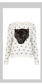 Knitted Spot Panther Sweat