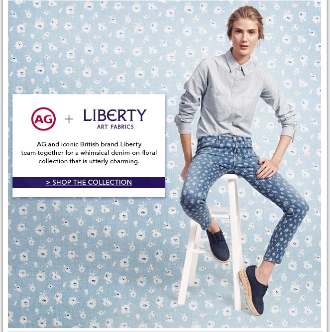 AG + Liberty Art Fabrics: A Charming Denim-On-Floral Collection