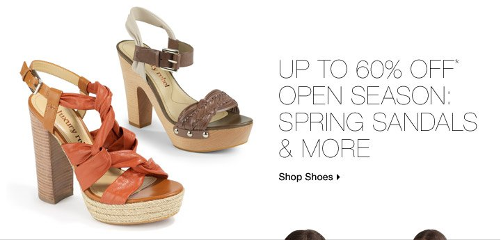 Up To 60% Off* Open Season: Spring Sandals & More