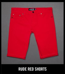 RUDE RED SHORTS
