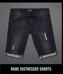 RUDE DISTRESSED SHORTS