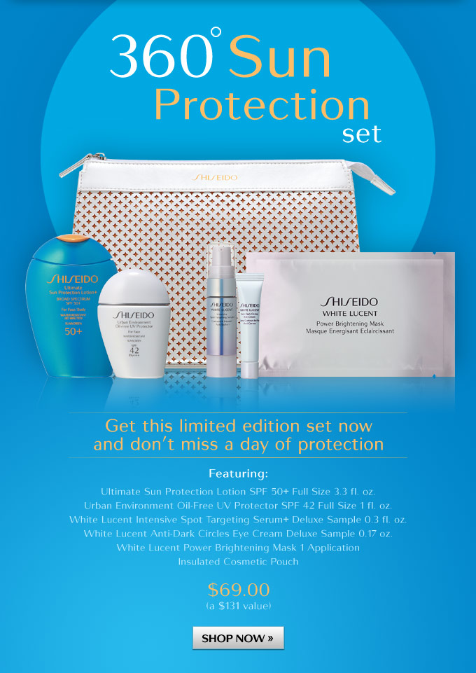 360 Sun Protection Set - Get this limited edition set now and don't miss a day of protection.