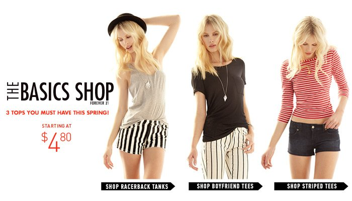 The 3 Must Have Tops for Spring at $4.80 & Up - Shop Now
