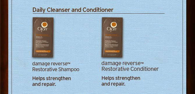 Daily  Cleanser and Conditioner damage reverse Restorative Shampoo Helps  stregthen and repair AND damage reverse Restorative Conditioner Helps  stregthen and repair