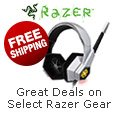 Great Deals on Select Razer Gear. FREE SHIPPING.