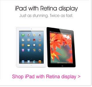 iPad With Retina Display.  Just As Stunning, Twice As Fast