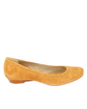 Gianni Gregori Stitched Solid Color Suede Leather Flats