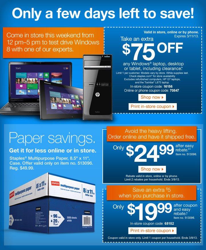 staples coupon savings end soon sneak peek more deals milled