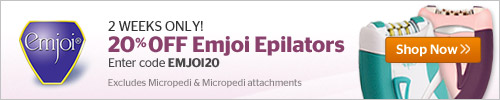 20% off Emjoi Epilators