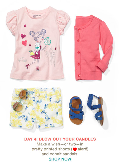 DAY 4: BLOW OUT YOUR CANDLES | SHOP NOW