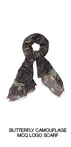Shop The Butterfly Camouflage McQ Logo Scarf