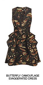 Shop The Butterfly Camouflage Exaggerated Dress