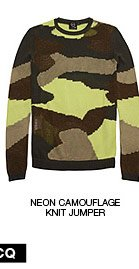 Shop The Neon Camouflage Knit Jumper