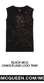 Shop The Black McQ Camouflage Logo Tank