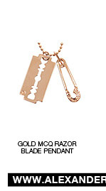Shop The Gold McQ Razor Blade Pendant