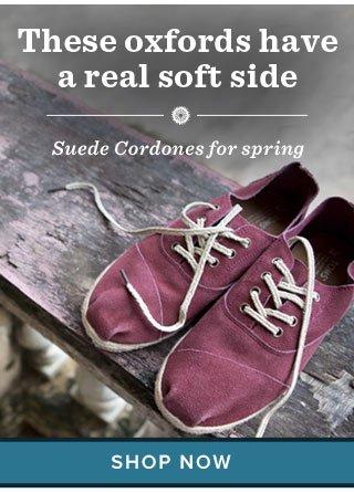 Suede cordones for spring