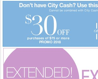 LAST DAY to Save $70 off $150 or $30 off $75 - Print coupon now!