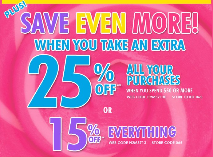 25% Off Your Entire Purchase When You Spend $50 Or More
