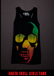 RASTA SKULL GIRLS TANK