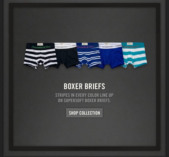 BOXER BRIEFS          STRIPES IN EVERY COLOR LINE UP ON SUPERSOFT BOXER BRIEFS.          SHOP COLLECTION
