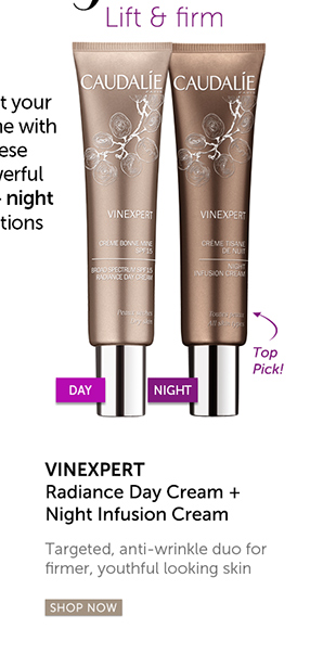 Lift & firm: Vinexpert Radiance Day Cream + Night Infusion Cream | Targeted anti-wrinkle duo for firmer, youthful looking skin [SHOP NOW]