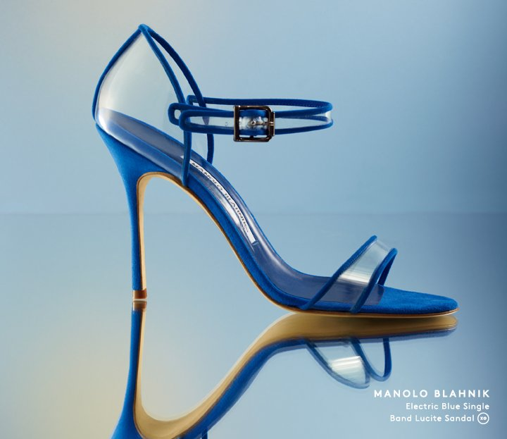 Take the new Manolo Blahnik collection for a spin: Shop Spring now.