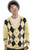 <b>Jed Clothing</b><br />The Silverlake Argyle Cardigan