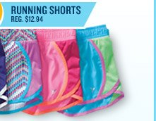 $8 RUNNING SHORTS REG. $12.94