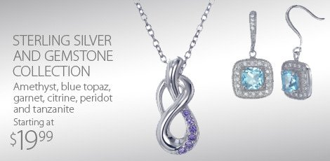 Sterling Silver and Gemstone Collection
