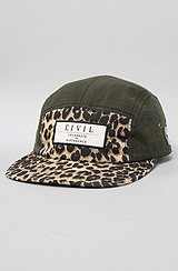 The Kingston Leopard 5 Panel Camp Hat in Military Green