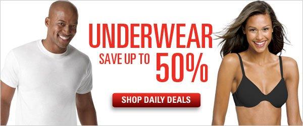Save up to 50% on Underwear