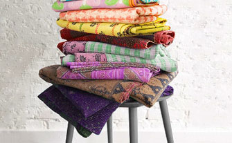 Vintage Bazaar featuring one-of-a-kind Kantha throws- Visit Event
