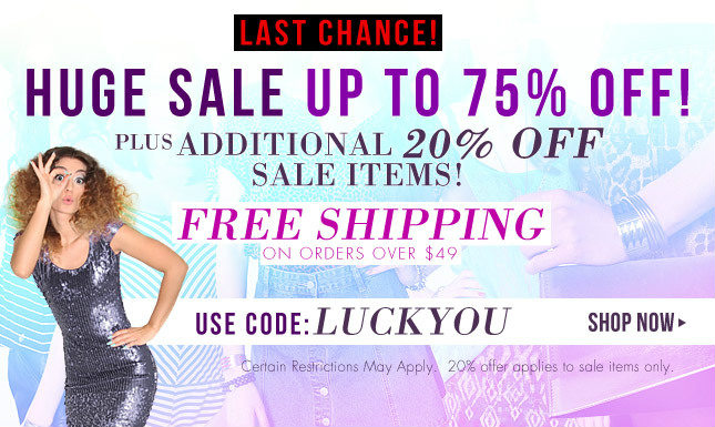 Ending Soon... Additional 20% Off Sale Items | Free Shipping over $49