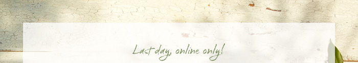 Last day, online only!