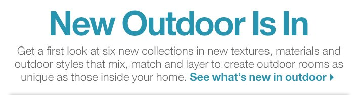See what's new in outdoor