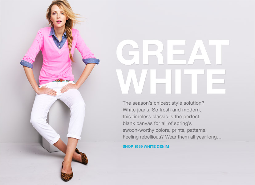 GREAT WHITE | SHOP 1969 WHITE DENIM