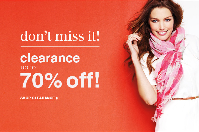 Click here to shop Clearance