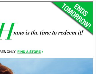 Tomorrow is the last day to redeem your City Cash! Hurry, find your store!