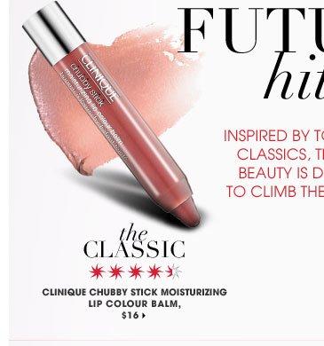 The Classic. Clinique Chubby Stick Moisturizing Lip Colour Balm, $16