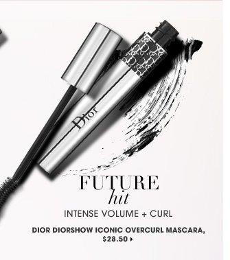Future Hit. intense volume + curl. new . exclusive. Dior Diorshow Iconic Overcurl Mascara, $28.50