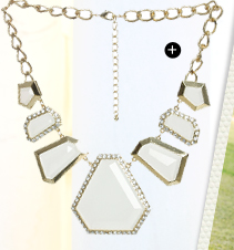 Stone Trim Statement Necklace