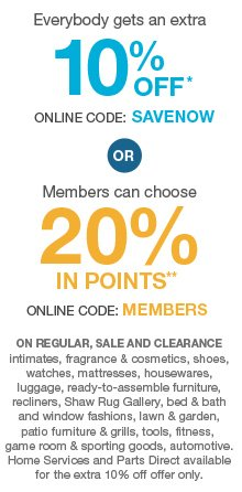 10% OFF* OR 20% IN POINTS**