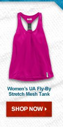 Women's UA Fly-By Stretch Mesh Tank  – Shop Now