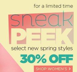 Shop Women's Sneak Peek
