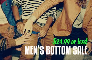 Men's Bottom Sale