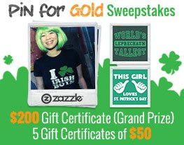 Pin for Gold Sweepstakes
