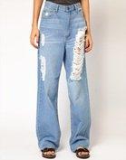 Cheap Monday Omega Distressed Boyfriend Jeans