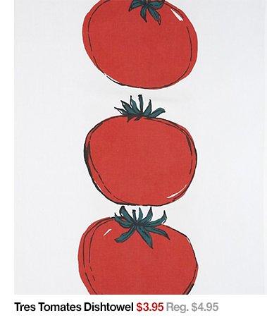 Tres Tomatoes Dishtowel $3.95