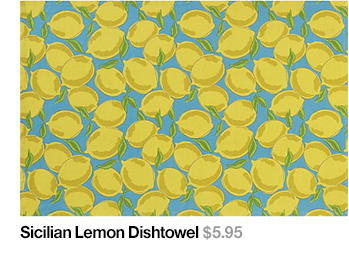 Sicilian Leon Dishtowel $5.95