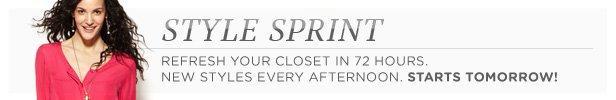 Style Sprint starts tomorrow 3/12